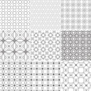 模様が美しいシームレスなパターン集 Seamless Vector Patterns イラスト素材
