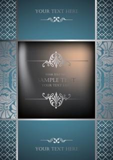 絢爛豪華な表紙デザイン見本 european gorgeous pattern vector background イラスト素材3