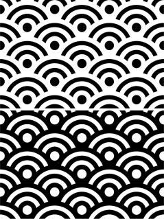 シームレスな波型パターン Wave type seamless patterns イラスト素材