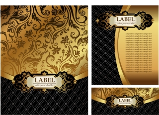 金色の装飾がゴージャスな背景 european gorgeous pattern background イラスト素材