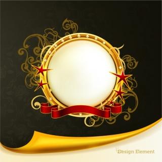 豪華な金飾りのメダル デザイン gorgeous medal vector イラスト素材5