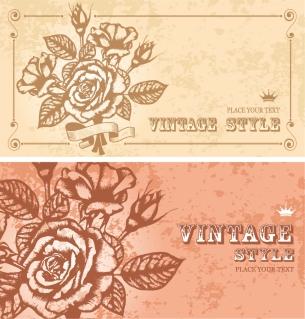 古典的な植物飾りの背景 classical pattern vector flowers lace イラスト素材1