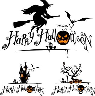 ハロウィン魔女のクリップアート halloween witch and graphics vector イラスト素材2