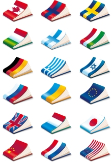国旗をデザインしたノートの表紙 national flag cover notebook vector イラスト素材