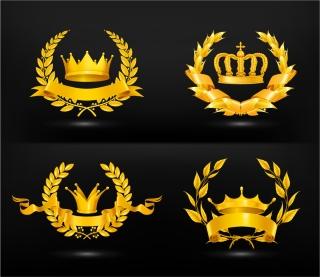 豪華な金の王冠のクリップアート gold medal icon vector イラスト素材