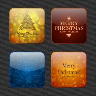 雪のクリスマスのシンボル アイコン snow christmas symbol icons イラスト素材