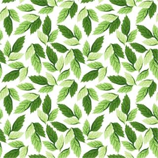 シームレスな木の葉の背景 Seamless Leaf Pattern Vector Background イラスト素材