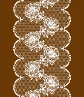 レトロな花柄のレース織り模様 Classic retro lace pattern background  イラスト素材