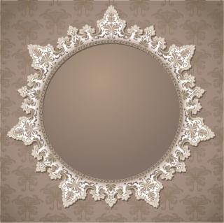 エレガントなレース飾りのフレーム elegant classical frame イラスト素材1