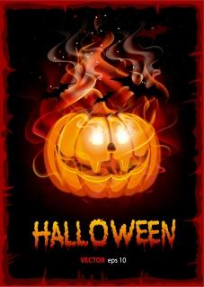 ハロウィン かぼちゃランタンの背景 Halloween pumpkin lights イラスト素材
