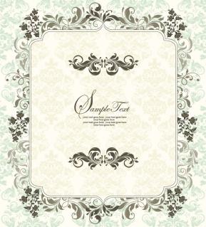 お洒落な植物飾りのフレーム European style shading lace corner イラスト素材