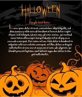 ハロウィン ポスターの背景 halloween posters element vector イラスト素材5