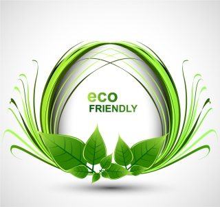 エコイメージの緑の植物が鮮やかな背景 abstract floral vector background イラスト素材