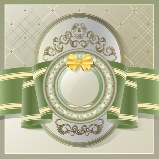 リボン飾りの表紙デザイン lace ribbons bows background イラスト素材