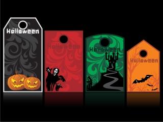 ハロウィン タグ デザイン halloween tag element vector イラスト素材4