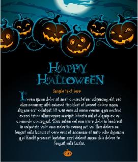 暗闇のハロウィン ポスターの背景 halloween posters beautiful background イラスト素材