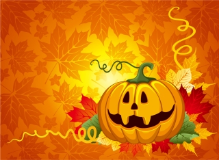 ハロウィンかぼちゃの背景 halloween pumpkin backgrounds イラスト素材1