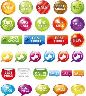 安売りタグのデザイン見本 Sale Shopping Tags and Signs イラスト素材