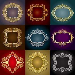 エレガントなレース飾りのフレーム elegant classical frame イラスト素材2