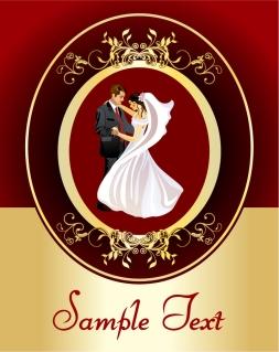 結婚式を彩るお洒落なフレーム lace wedding clip art イラスト素材