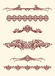 ヨーロッパ スタイルの優雅なボーダー europeanstyle lace pattern vector イラスト素材1