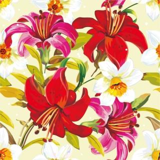 美しい赤い百合の背景 Beautiful flowers background イラスト素材