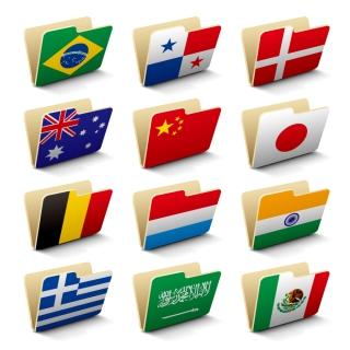 国旗デザインのフォルダ アイコン Vector Flag Folders イラスト素材3