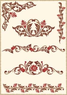 ヨーロッパ スタイルの優雅なボーダー europeanstyle lace pattern vector イラスト素材3