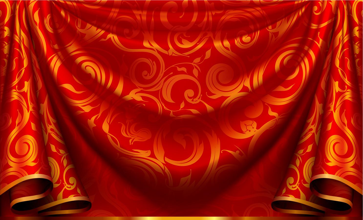 ... なカーテンの背景 Elegant curtain background イラスト素材