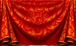 優雅なカーテンの背景 Elegant curtain background イラスト素材