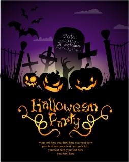 ハロウィン ポスター テンプレート halloween posters beautiful background イラスト素材