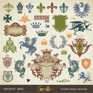 ヨーロッパ調の優雅な修飾素材 European pattern side wings borders イラスト素材