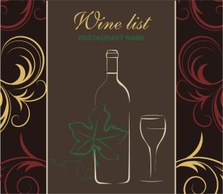 ワインリストの表紙デザイン wine list cover design イラスト素材