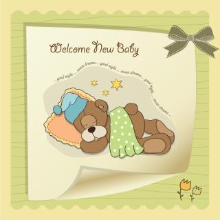可愛い縫いぐるみの背景 Cute cartoon style children's card design イラスト素材