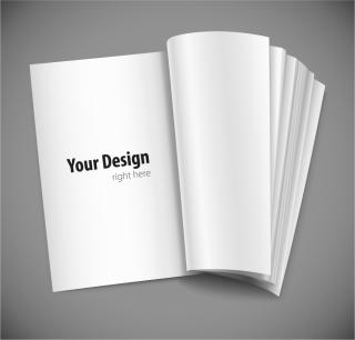 デザイン用に空白のノート fine blank notebook vector イラスト素材2
