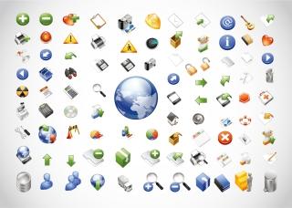 ウェブ関連のアイコン パック Web Icons Pack イラスト素材