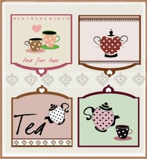 喫茶を題材にしたコースター デザイン Coffee theme material picture イラスト素材2