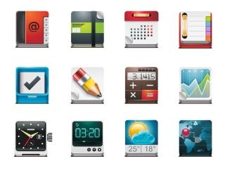 アプリ アイコン デザイン見本 App Vector Icon Pack イラスト素材