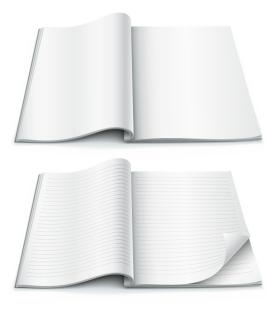 デザイン用に空白のノート fine blank notebook vector イラスト素材1