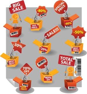 実用的な割引セール アイコン practical sales icon vector イラスト素材