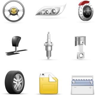 自動車パーツのクリップアート automotive parts clip art イラスト素材