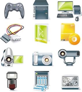 電子機器のクリップアート digital equipment icon イラスト素材