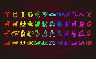 十二星座のサイン Zodiac Signs イラスト素材