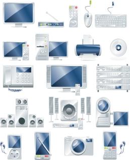 各種電気製品のクリップアート Electronic Products and Gadgets イラスト素材