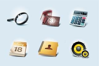 一般的なシンボルアイコン common symbol icons イラスト素材